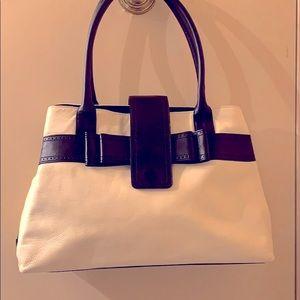 Kate Spade bow bag black and cream